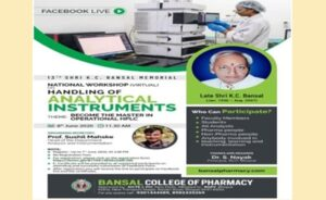"National Workshop on ""Handling of Some Analytical Instruments"""