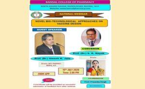 "National Webinar on ""Novel Biotechnological Approaches on Vaccine Design"""