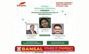National Webinar on Pharmacist : Front Line Health Professionals