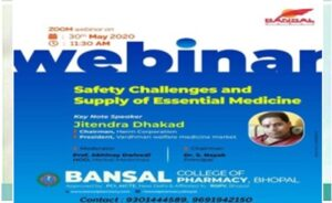 Webinar on Safety Challenges and Supply of Essential Medicine