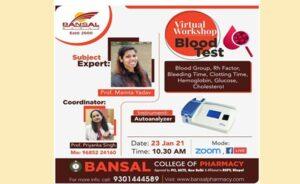 Online Workshop On Blood Test