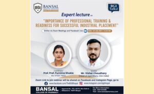 """Expert Lecture on """"Importance of Professional Training & Readiness for Successful Industrial Placement"""""""