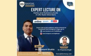"""Expert Lecture on """"Herbs And Nutraceuticals In Life Style Disorders"""""""
