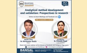 Webinar On Analytical Method Development and Validation : Prospective in Research