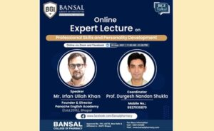 """Expert Lecture on Topic """"Professional Skills and Personality Development"""""""