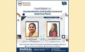 """Expert Lecture on Topic """"Standardisation and Quality Control of Medicinal Plants"""""""