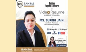"""Expert Lecture on Topic """"Webinar On Video Resume: A Need of Virtual Era"""""""