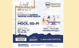 Online Mock, GD-PI on World Pharmacist Day