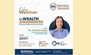 Webinar on Wealth Awareness (Financial Wellness Enhancement)