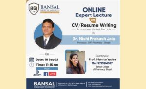 """Expert Lecture on Topic """"Webinar On Resume/CV Writing:  Success Ticket for Job"""""""